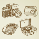 collection of vintage design