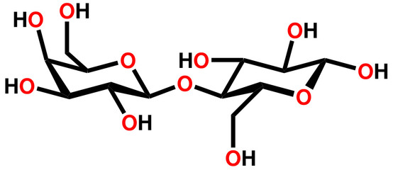 Lactose structural formula