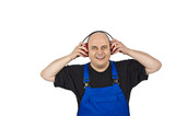 Bauarbeiter mit Gehörschutz