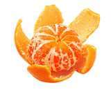ripe tangerine peel with purified poster