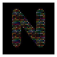 N, lettre N, alphabet, lettre, mot, écriture, vecteur, graphique