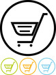 Shopping cart - Vector icon