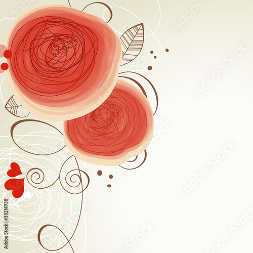 In de dag Abstract bloemen Vector floral ornament