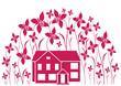 Haus und Blumen