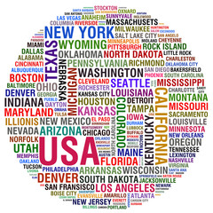 USA Cities ans States