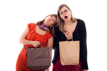 Women tired of shopping