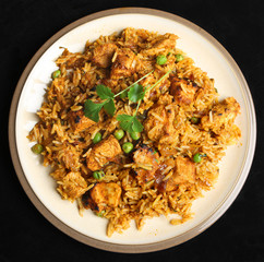 Indian Chicken Biriyani Curry Food