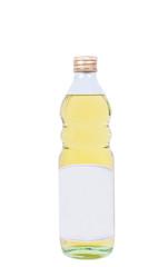 Full bottle of oil isolated