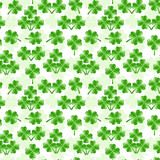 vector illustration of seamless pattern with four leaves clover