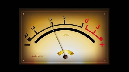 Analog mono audio meter