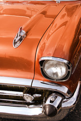 Close up shot of Classic car front end © SNEHIT