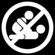 No sex sign!! (white)