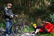 chute de vélo lors d'une promenade