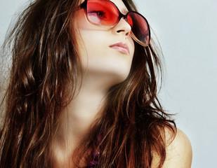 The girl in sun glasses
