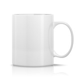 photorealistic white cup for logos and graphics