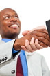 African businessman handshake