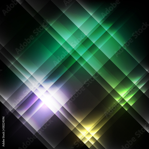 Dark abstract mosaic background - vector illustration