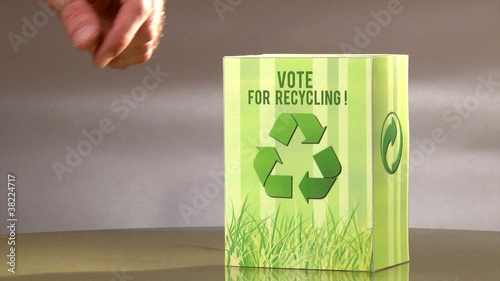 Vote for recycle. Ecology campaign .Green concept.