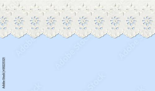 Gardinen Fenster hellblau
