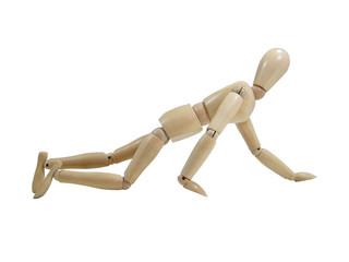 Crawling Wood Puppet