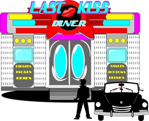 last kiss diner from the sixties