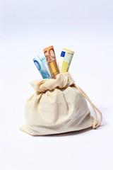 Geldsack mit Scheinen