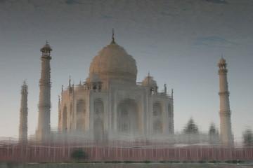 Taj Mahal - Original-Wasserspiegelung
