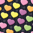 Conversation Hearts Seamless Tile