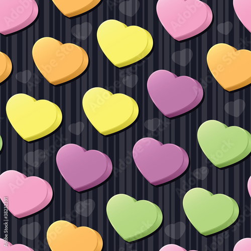 Conversation Hearts Seamless Tile