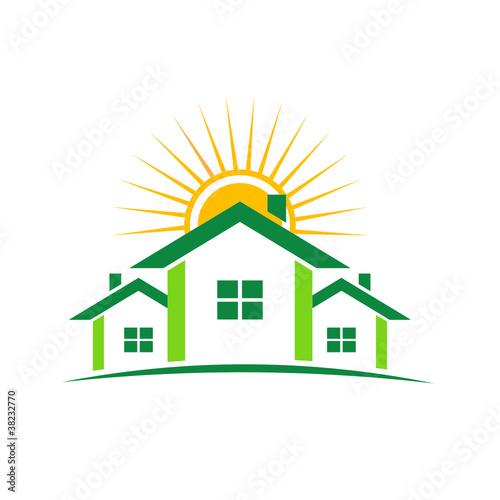 房子造型logo