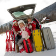 Winter - family ready for the travel for winter vacation