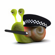 3d Snail is a police officer serving his community