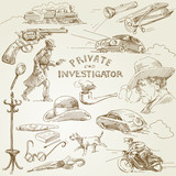 private investigator - hand drawn collection