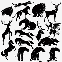 animal wild heraldic silhouette
