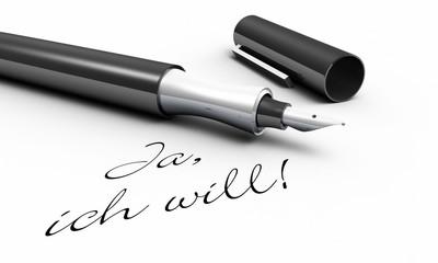 Ja, ich will! - Stift Konzept