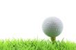 golf ball on pin