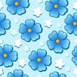 Flowery seamless background 7