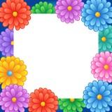 rám s tématem květin 1