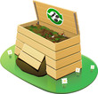Wooden Compost Bin : open