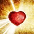 retro love heart