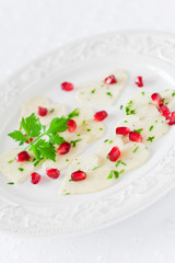 Black radish carpaccio