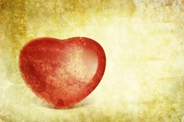 vintage love heart print