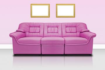 Pink modern sofa