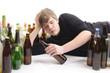 Junger Alkoholiker