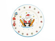 Santa claus painting on plate