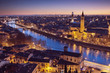 Leinwanddruck Bild - Verona at night - Italy