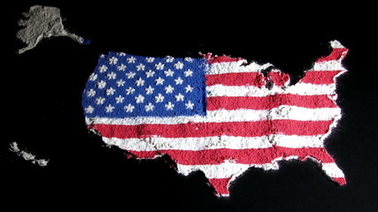 US map, black, zoom out