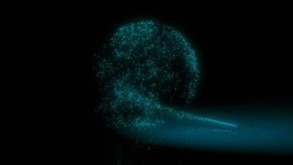 Partikelzauber - Erdball Rotation türkis blau