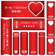 special red Valentine's Day tickets