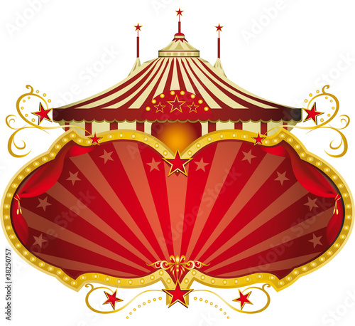 Magic red circus frame